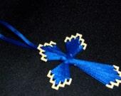 Cross Ribbon Plastic Canvas Ornament