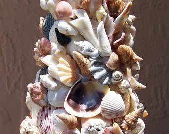 Sea Shell Art Tree Home Decoration - 8 1/2 to 9 inches tall - Custom Order