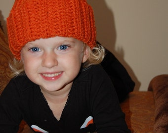 Pumpkin Hat Sized 1 year old to 3 year old