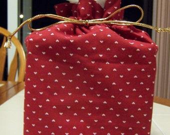 Valentines Day Heart Print Fabric Kleenex Tissue Cover