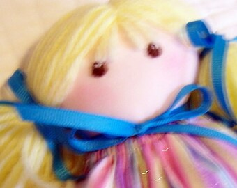 Doll Handmade - My First Doll with Blond Hair and Brown Eyes