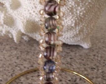 Bracelet of Crystal and Glass Beaded Bracelet   Swarovski   Ready to Ship