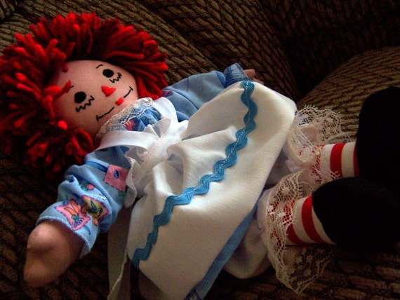 Raggedy Ann Doll - 13 inch - Blue Dress