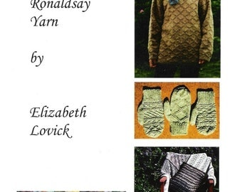 pdf copy of Patterns for North Ronaldsay Yarn  by Elizabeth Lovick - instant download