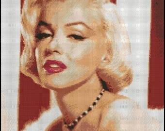 Marilyn Monroe cross stitch pattern No.490