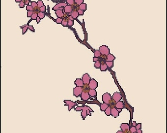 CHERRY BLOSSOM cross stitch pattern No.158