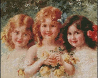 THREE SISTERS cross stitch pattern No.462