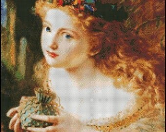 TAKE The FAIR Face Of WOMAN cross stitch pattern No.147
