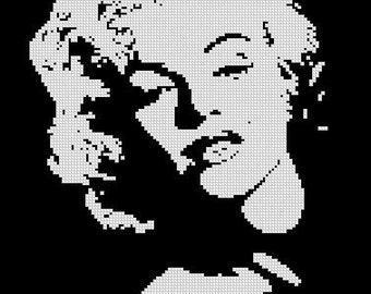 MARILYN MONROE cross stitch pattern No.6