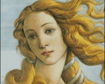 THE BIRTH Of VENUS cross stitch pattern No.396