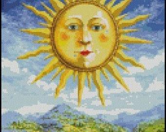 RENAISSANCE SUN cross stitch pattern No.153