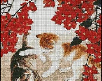 TWO KITTENS cross stitch pattern No.280