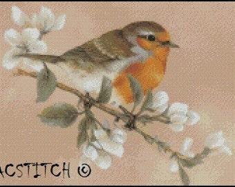BIRD cross stitch pattern No.570