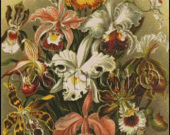 ORCHIDS cross stitch pattern No.460