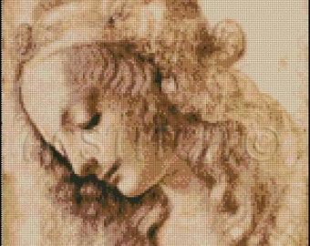 WOMAN'S HEAD da Vinci cross stitch pattern No.583