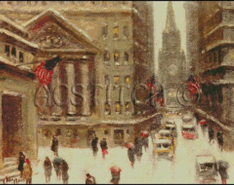 WINTER NEW YORK cross stitch pattern No.364