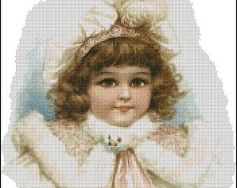 VINTAGE GIRL  cross stitch pattern No.50
