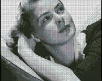 INGRID BERGMAN cross stitch pattern No.251
