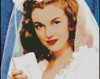 MARILYN MONROE cross stitch pattern No.88