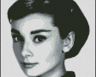 AUDREY HEPBURN cross stitch pattern No.515