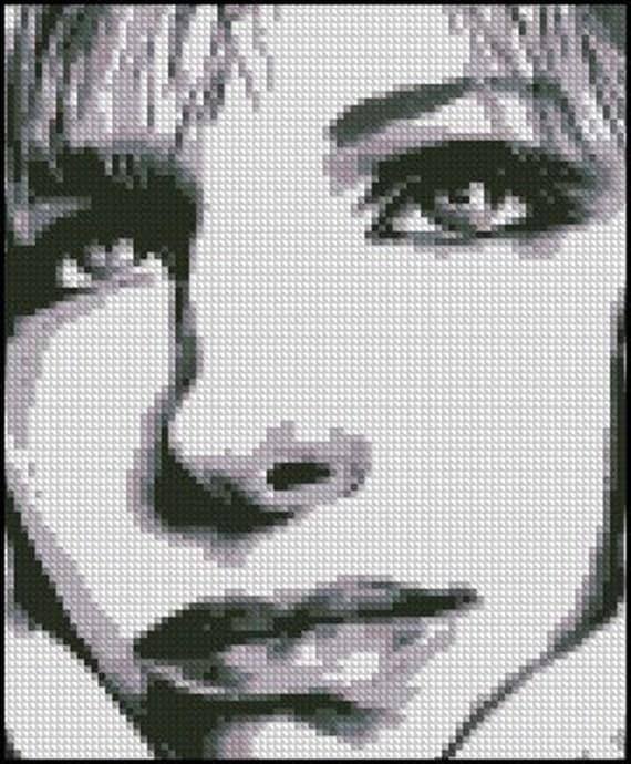 BARBARA STREISAND cross stitch pattern No.367
