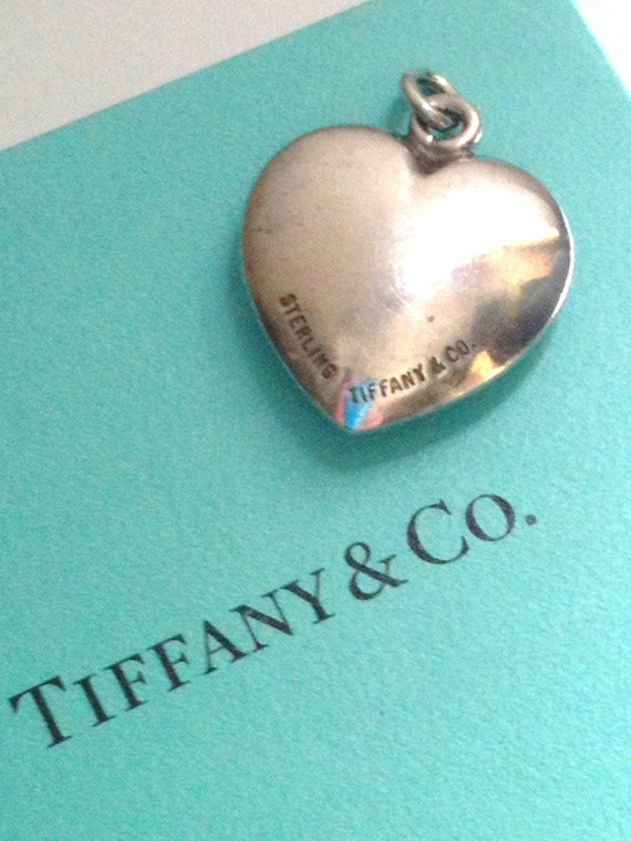 Vintage very rare Tiffany Heart Sterling Silver Heart Pendant