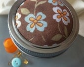 Cocoa Bliss canning jar pin cushion