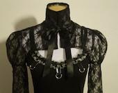 Victorian lace shrug /gothic/fetish/emo/burlesque