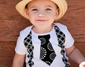 Tie and Suspender Top YOU PICK fabric (Newborn to 12 years)