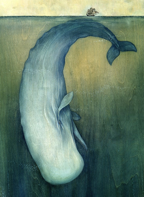 "13""x19"" Moby Dick or The Great Whale"