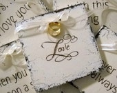 WEDDING RING HOLDER for your Wedding / Ceremony / Love Notes / Shabby Cottage Signs 5 x 5