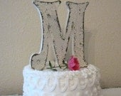 Wedding Cake Topper, Wood Initial Cake Topper, Wedding Signs, Bride and Groom Signs, 6 inches high