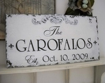 PERSONALIZED SIGNS | WEDDING Signs | Family Name Signs | Est. Signs | 12 x 24