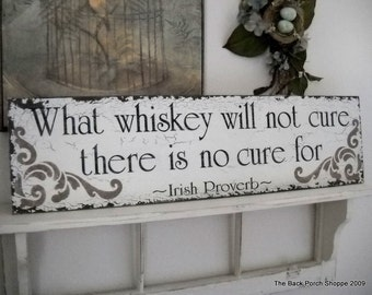 IRISH PROVERB BAR Sign Shabby Cottage Tavern Signs 32 x 8 1/2