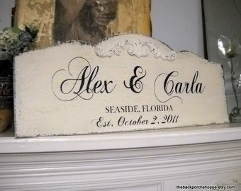 WEDDING SIGN, Family Name Sign, Bride and Groom Signs, Mr. and Mrs. Signs, Large Wedding Signs, 12 x 30