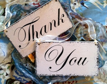 MR & MRS REVERSES to Thank / You Double Sided 9 x 5 Chair Signs