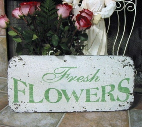 Items Similar To FRESH FLOWERS Vintage Style Garden Floral