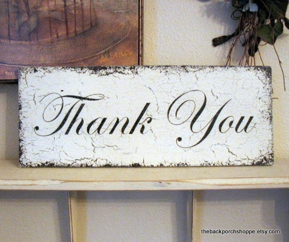 WEDDING SIGNS | Thank You Signs | Wood Wedding Signs | 7 x 18