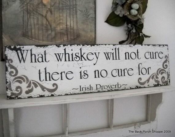 IRISH PROVERB BAR Sign Shabby Cottage Tavern Signs 32 x 8 1/2
