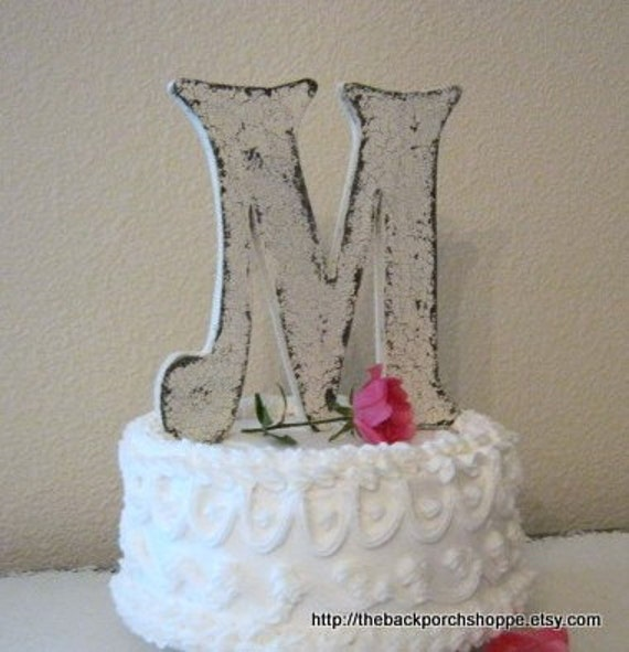 wood initial cake topper wedding signs bride and groom signs zoom