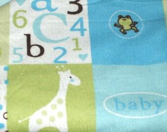Flannel Boy Baby Blanket