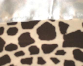 Flannel Giraffe Print Pillowcase