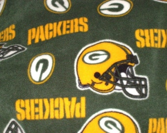 Fleece Blanket with Green Bay Packer Print
