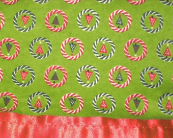 Flannel Green Christmas Tree Pillowcase