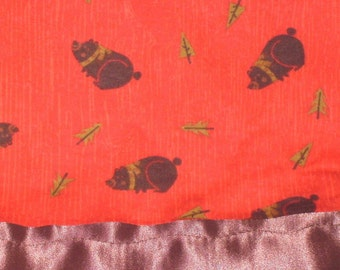 Flannel Red with Bears Pillowcase