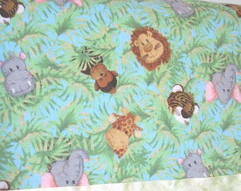 Flannel Jungle Pillowcase