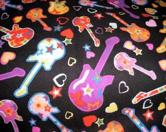 Flannel Guitar Print Pillowcase