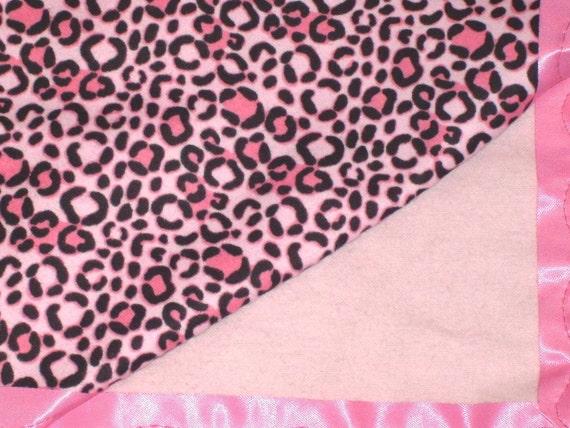 Flannel Pink Leopard Baby Blanket