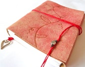 Distressed Pink Leather Journal
