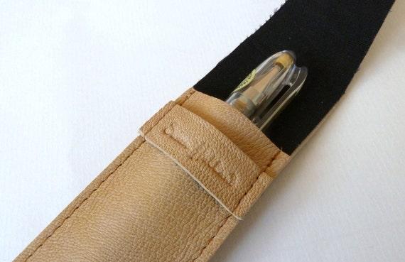 Leather Pen Case, Natural Tan